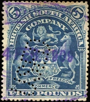 Lot 5:British Africa Revenue Cancels on KUT 1938 KGVI 