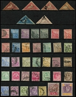 Lot 29 [2 of 5]:British Commonwealth 'B' to 'C' collection on 30 Hagners incl Bermuda KGVI 5/- (fault), 1953-62 10/- blue (MUH), British Guiana good selection of earlies, British Honduras, Br. Solomons KGVI Wedding 10/- & QE 1956 Pict 10/- (both no gum), Brunei range of River Views, 1923 Malaya-Borneo Exhib 3c & 10c with short 'N' variety, Japanese Occup 15c blue, Burma, Bushire opt range (possible forgeries), Cape of Good Hope Triangles 1d (4), 4d, 6d, few Revenues throughout. Generally fine. (100s)