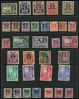 Lot 29 [3 of 5]:British Commonwealth 'B' to 'C' collection on 30 Hagners incl Bermuda KGVI 5/- (fault), 1953-62 10/- blue (MUH), British Guiana good selection of earlies, British Honduras, Br. Solomons KGVI Wedding 10/- & QE 1956 Pict 10/- (both no gum), Brunei range of River Views, 1923 Malaya-Borneo Exhib 3c & 10c with short 'N' variety, Japanese Occup 15c blue, Burma, Bushire opt range (possible forgeries), Cape of Good Hope Triangles 1d (4), 4d, 6d, few Revenues throughout. Generally fine. (100s)