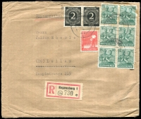 Lot 16 [3 of 5]:Covers 1940s-90s incl pre-1949 Germany (6), East Germany (20+) Liechtenstein (15+) incl few registered, express covers, sheetlets, Priority, M/Ss, etc. (45+)