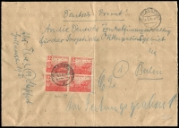 Lot 16 [1 of 5]:Covers 1940s-90s incl pre-1949 Germany (6), East Germany (20+) Liechtenstein (15+) incl few registered, express covers, sheetlets, Priority, M/Ss, etc. (45+)