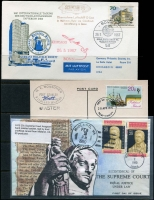 Lot 18 [1 of 3]:Covers World Array incl FDCs, Souvenir covers, registereds, etc, from Australia, Canada, Falkland Islands, Finland, Germany, Hong Kong, Malawi, Norfolk Island, South Africa & SWA Framas. etc. Generally fine. (Approx 200)