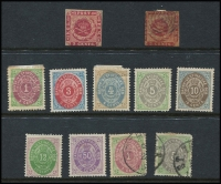 Lot 22 [3 of 3]:Denmark 1851-54 4rbs (4),1854-59 2sk (5), 4sk (8), 8sk (5), 16sk (2), 1864-70 various to 16sk, 1875-1903 various to 100ő, also small group of Danish West Indies. Very mixed condition. (75+)