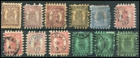 Lot 1035:Finland 1866-67 5p (3, 2 mint), 8p (3), 10p, 20p, 40p (4). Cat £3,370. Mixed condition. (12)