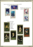 Lot 1389 [2 of 7]:1970-90 on Michel hingeless 12 ring pages incl 1973-75 Buildings (15), 1973 Songbirds (8), 1984 Fairy Tales sheetlet, many strips with labels, se-tenant blocks, sheetlets, M/Ss. Many sets, much thematic interest. Cat c.£800. 2.7kg. (100s)