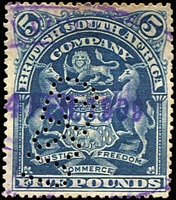 Lot 9:British Africa Revenue Cancels on KUT 1938 £1 KGVI 
