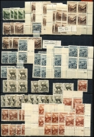 Lot 52 [3 of 4]:Slovakia 1939-45 Accumulation in 32 page stockbook incl 1939 Opts 60h blue (3, MUH with 'Franek' guarantee handstamp), Newspaper stamps sets with many extras, General Stefanik (5 sets), duplicated range of later issues mint & used with many sets. Also Inauguration of Slovak Parliament (12, MUH incl block of 4 & block of 6), few Postage Dues. Generally fine. (100s)