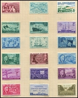 Lot 104 [3 of 5]:World incl small selection of Australian States in glassine bags, Israel incl 1962 I£1 Air with tab, New Zealand few QV-QE incl range of QE decimal issues on piece with PO cachet, USA selection of many 3c & 4c commems (150+ MLH), International Reply Coupons Type C22 (5, three unused, 2 used) also battered 'Illustrated Postage Stamp Album' with few stamps. Mixed condition. (100s)