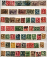 Lot 59 [2 of 4]:World in 26 page Chinese stockbook incl Canada, China incl selection of Junks & Reapers, 1963 Children (10, no gum as issued) various to 20f (2), Fiji, France, GB, India 1968 Magpie showing downwards shift of red colour on bird, New Zealand $4 Bird, USA few Columbus to 10c, etc. Mixed condition. (100s)