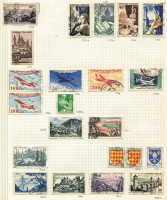 Lot 59 [1 of 3]:World incl Belgium, China few opts, France 1954 Air 500f & 1,000f Planes, Hungary, Norway, Papua New Guinea 1964 10/- Bird (MLH), South Africa, Spain, USA, etc. Generally fine. (100s)