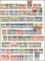 Lot 19 [3 of 3]:World in 16 page Ka-Be album incl range of 1945-47 Victory issues (144, MUH), France & USA 1940s range (with many values having disturbed gum), India 1950 Inauguration of Republic (4, MUH), New Zealand 1947 Lighthouses (2 sets, MUH), etc. (100s)