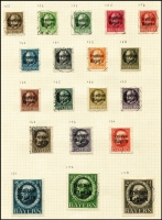 Lot 1388 [3 of 4]:Germany & States accumulation on leaves incl Bavaria & Württemberg with some better issues, opts, Officials, Municipal issues, plus range of modern West German used issues. Mixed condition in early issues. (100s)