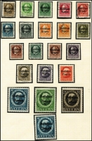 Lot 1388 [1 of 4]:Germany & States accumulation on leaves incl Bavaria & Württemberg with some better issues, opts, Officials, Municipal issues, plus range of modern West German used issues. Mixed condition in early issues. (100s)