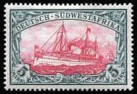 Lot 1423 [1 of 3]:1901 No Wmk Yachts 3pf to 5m (with additional 25pf, no gum), also unused Zieher style impressed stamps post card (blemishes), unused. Mi #11-23, Cat  €600. (15 items)