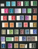 Lot 445 [2 of 2]:1829-80s Collection on 55+ Hagners incl 1829 Free front addressed to Sir William Knighton, Bart, Royal Lodge, Windsor [1776-1830 acted, as Private Secretary to King George IV], later QV issues incl 1887-1900 Jubilee, few Edwards, 1913-19 Seahorses 2/6d, 5/-, 1929 PUC ½d wmk sideways, 1934 2/6d, 10/- Seahorses, KGVI 1938-48 10/- dark blue (3, incl a pair), £1 pair, many QE issues, mostly used, selection of MUH Machins, Regionals. Generally fine. (100s)
