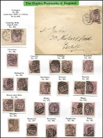 Lot 392 [3 of 3]:Duplex Postmark Collection with strength in 1881 1d lilacs on annotated pages almost complete from '3' to '974', various others from '019' to '054', various 'A' to 'K' numbers, range of covers, some registered. Ideal lot for specialist. (100s plus 45 covers)