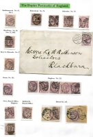 Lot 392 [1 of 3]:Duplex Postmark Collection with strength in 1881 1d lilacs on annotated pages almost complete from '3' to '974', various others from '019' to '054', various 'A' to 'K' numbers, range of covers, some registered. Ideal lot for specialist. (100s plus 45 covers)