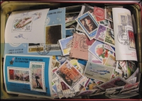 Lot 106:World 0.15kg Off-paper. Mostly better stamps. No Australia. (100s)