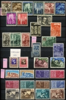 Lot 1477 [5 of 5]:1852-80s Netherlands & Colonies in stockbook incl many commems, few Red Cross, various Child Welfares, 1956 Europa (mint), Postage Dues, Curaçao, Netherlands Indies range of earlies, 1945 registered air cover Soembawa to General Sir Thomas Blamey in Melbourne, also Vatican incl 1949 P14x13 5l St. Praxedes P14x13, 1950 Papal Guards, 1951 500l Decree of Gratian 500l used, etc. Condition of earlies is very mixed. (100s)