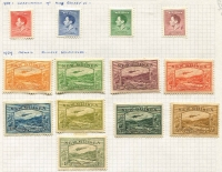 Lot 370 [2 of 3]:1914-39 Collection incl 1914-15 GRI 5m Apart 1d on 5pf, 2d on 10pf opts, 1923 Huts 1d to 1/-, various optd 'OS' to 2/-, few Dated Birds to 9d, Undated Birds to 2/- (2, one used) optd 'OS' 6d & 9d, Undated Bird Airs 2/-, 5/- & £1 (no gum), 1939 Airs to 1/- (ex 9d). Cat £580+. Generally fine. (75)