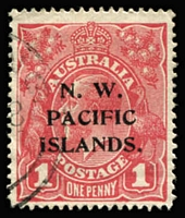 Lot 902:1915-16 KGV Single Wmk 1d red Substituted cliché Die I, SG #67ba, Cat £1,500.