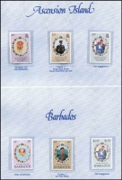 Lot 92 [2 of 2]:1981 Royal Wedding: in Crown Agents Single Stamp album complete set of 70 stamps with Certificate of Authenticity.