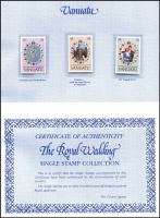 Lot 92 [1 of 2]:1981 Royal Wedding: in Crown Agents Single Stamp album complete set of 70 stamps with Certificate of Authenticity.