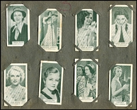 Lot 113 [2 of 2]:Cigarette Cards: Enormous accumulation with selections from incomplete Capstan British Empire Series, Carreras Notable Ships Past & Present, De Reske, Havelock, Highnett Bros Beauties, John Player Aviary & Cage Birds, Film Stars, Major Drapkin Limericks, National Types of Beauty, Vice Regal Aviation, Fish of Australia, Signalling Series, Will's Britain's Part in the War, Famous Inventions, First Aid, Garden Hints, NZ Birds, War Incidents, War Pictures, Wild Animals, etc also album with 47 of 48 British born Film Stars, two incomplete albums of National Flags & Arms & Radio Celebrities, plus few Brooke, Bond Tea & Kinkarra Tea cards. Mixed condition. (100s)