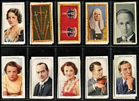 Lot 97 [1 of 4]:Cigarette Cards: Accumulation with selections from incomplete sets incl Capstan Signalling Series, Cavenders Ancient Chinese, Churchman Associaton Footballers, John Player British Livestock, British Regalia (set of 25), From Plantation to Smoker, Will's Air Raid Precautions, Animals, Famous Film Stars, Historic Events, Modern War Weapons, Motor Cars, Village Models, War Incidents, etc. Also small album with broken sets and several part sets on plastic pages. Mixed conditon. Medallion/Sports Cards : Basketball (USA) 'Topps' or 'Upper Deck' cards 1993-95 with various players & their statistics. Cricket Australia 1994 Futura cards (6 different heavily duplicated) range of players from most States & their details. Football Great Britain with 1998 Sainsbury's 'The Official England Squad Medal Collection 1998' in booklet form with 23 'silver' medals, plus 'The Final Five' booklet with 5 additional medals. (Few 100)