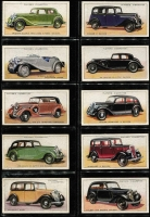 Lot 129 [2 of 3]:Cigarette Cards: John Player Motor Cars Series 1 set of 50.