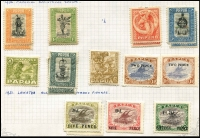 Lot 373 [3 of 4]:1901-39 Collection incl 1901-03 ½d to 6d, 1906 Large Papua opt 1d, 1/-, Small opt ½d, 2d, 3d, 1907-10 'Large' Papua various to 2/6d, 1911-15 Monocolours to 2/6d (ex 4d), 1917 Surcharges (6), 1916-31 Bi-colours (11) to 2/6d, 1931 Surcharges, 1934 Declaration, 1935 Jubilee. Condition mixed. (88)