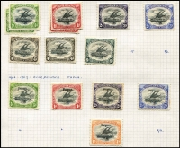 Lot 373 [4 of 4]:1901-39 Collection incl 1901-03 ½d to 6d, 1906 Large Papua opt 1d, 1/-, Small opt ½d, 2d, 3d, 1907-10 'Large' Papua various to 2/6d, 1911-15 Monocolours to 2/6d (ex 4d), 1917 Surcharges (6), 1916-31 Bi-colours (11) to 2/6d, 1931 Surcharges, 1934 Declaration, 1935 Jubilee. Condition mixed. (88)