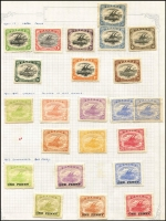 Lot 373 [1 of 4]:1901-39 Collection incl 1901-03 ½d to 6d, 1906 Large Papua opt 1d, 1/-, Small opt ½d, 2d, 3d, 1907-10 'Large' Papua various to 2/6d, 1911-15 Monocolours to 2/6d (ex 4d), 1917 Surcharges (6), 1916-31 Bi-colours (11) to 2/6d, 1931 Surcharges, 1934 Declaration, 1935 Jubilee. Condition mixed. (88)