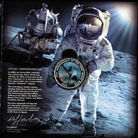 Lot 236 [5 of 5]:2007 Blast Off! 50 Years in Space in special folder with Space M/S (Limited edition 228 of 1,000 - individually numbered), also includes world's first Space 2004 Silver Proof coin incorporating dynamic 'lenticular' imaging. Retail $250.
