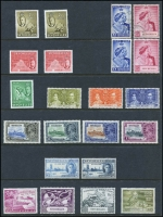 Lot 451:1935-52 Selection incl 1935 Jubilee MUH, 1948 Wedding (2 sets, one MUH, the other fine used), also 1952 Pictorials set MLH plus range of additional values (few MUH), Cat £200+. (68)
