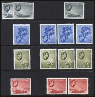 Lot 431 [1 of 2]:1938-49 Pictorial set of 25 MLH plus many additional values incl MUH 1r (2), 1r50, 2r25 (3), 5r, etc. Cat £1,500+. (90+)