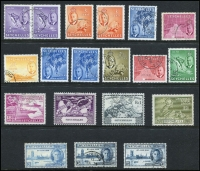 Lot 432 [2 of 2]:1938-52 Pictorial duplicated accumulation incl 2 sets of 1938-49 Picts, plus many extras, 1952 Pictorials incl 1r50c, 2r25, 5r & 10r. Generally fine. Cat £985+. (140+)