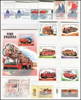 Lot 89 [3 of 3]:Fire Engines: & fire fighting on land, sea & air. Numerous sets from Angola, Brazil, Cambodia, Canada, Chile, Cuba, GB, DPR Korea, Monaco, Mongolia, Nicragua, Poland, Portugal, Russia, St. Tomé E Príncipe, Singapore, Sweden, The Gambia, USA, Upper Volta, Viet-Nam, some with M/S, etc. (100s)