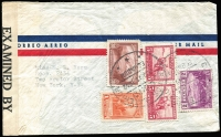 Lot 471 [4 of 4]:1940s Covers mostly to USA and Censored, from Chile, Colombia (2), Germany (5, all with German Censor tape), Ecuador, Haiti (double Censored), Ireland, also several covers to Europe incl 1944 Brazil Censored to GB. Mixed condition. (17)