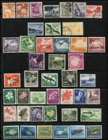 Lot 1344 [1 of 3]:C1963 PO Territory Presentation Folder comprising CTO sets Christmas Island 1963 Picts set (10), Nauru 1954-58 Picts (9), Norfolk Island 1960-62 Picts (13, incl 10/- optd 'SPECIMEN' [15½mm, top left]), 1962-63 Fish (6), 1964 Scenes (4), Papua New Guinea 1963 10/- Rabaul (15½mm, no gum), £1 Queen (13½mm), 1964 Bird 10/- all optd 'SPECIMEN'. All housed in special folder & original PO envelope. (50)