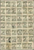 Lot 196 [3 of 4]:Duplicated Range with 1st wmk (mint, mostly toned) to 9d, 1d Roo perf large 'OS' [pos. 60] MLH, various wmks incl 1d (15), 2d grey (43), 6d blue (2), 1/- green (8), 2/- maroon (3), CofA 5/- (3) also selection of perf small 'OS' to 6d blue (3, incl a pair), 6d chestnut (3), 1/-, and perf 'OS/NSW' 3d (2), 9d, & 1/- pair. Mixed condition (107)