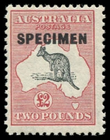Lot 194:£2 Grey-Black & Rose-Crimson optd 'SPECIMEN' Type D, BW #58x, Cat $100.