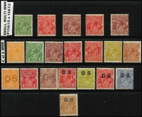 Lot 1218 [2 of 4]:1913-65 Collection incl Kangaroos 3rd Wmk 2½d, CofA 9d, 2/-, KGV Heads on 11 Hagners incl 1d Engraved (2), Single Wmk various to 2d red, No Wmk (2), LM Wmk (5), SM Wmk, CofA Wmk to 5d, few optd 'OS' incl CofA 6d Roo & KGV 5d. Commems incl 1932 Bridge pair optd 'OS', 1934 Macarthur (4), 1936 SA Centenary (3), 1937 NSW Sesqui (3), numerous low value KGVI & QEII issues, 1953 Food block of 9, 1959-64 to 5/- Cattle Cream paper, 1963-64 Navigators to 10/-, etc. Generally fine. (350+)