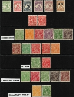Lot 1218 [1 of 4]:1913-65 Collection incl Kangaroos 3rd Wmk 2½d, CofA 9d, 2/-, KGV Heads on 11 Hagners incl 1d Engraved (2), Single Wmk various to 2d red, No Wmk (2), LM Wmk (5), SM Wmk, CofA Wmk to 5d, few optd 'OS' incl CofA 6d Roo & KGV 5d. Commems incl 1932 Bridge pair optd 'OS', 1934 Macarthur (4), 1936 SA Centenary (3), 1937 NSW Sesqui (3), numerous low value KGVI & QEII issues, 1953 Food block of 9, 1959-64 to 5/- Cattle Cream paper, 1963-64 Navigators to 10/-, etc. Generally fine. (350+)