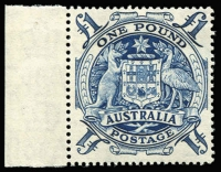 Lot 764 [1 of 2]:1949-64 Arms 10/- purple & £1 blue x5, BW #269-70, Cat $400. (6)