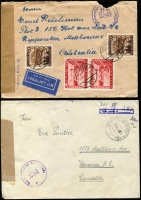 Lot 1478 [2 of 9]:1947-51 Censored covers mostly to or from Austria with 'Alliierte Zensurstelle', 'Österreichische Zensurstelle/Brief/Zensur', 'Britische Prufstelle', etc, with Censor numbers ranging from '5' to '2379', range of other cancels & cachets, FDCs, several advertising covers, few Stationery items, many different postal rates. STC US$1,965. Generally fine. (150+)