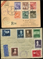 Lot 1478 [4 of 9]:1947-51 Censored covers mostly to or from Austria with 'Alliierte Zensurstelle', 'Österreichische Zensurstelle/Brief/Zensur', 'Britische Prufstelle', etc, with Censor numbers ranging from '5' to '2379', range of other cancels & cachets, FDCs, several advertising covers, few Stationery items, many different postal rates. STC US$1,965. Generally fine. (150+)