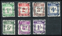 Lot 1333 [2 of 2]:1940 Postage Dues set, SG #D1-8, Cat £139. (8)