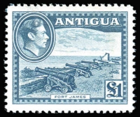 Lot 4:Antigua 1938-51 Pictorials 2/6d (2, one used), 5/
