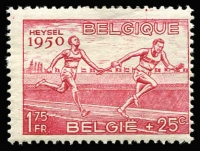 Lot 2 [3 of 5]:Belgium 1950 European Athetics Championships set, SG 1311-16, Cat £100 (5)